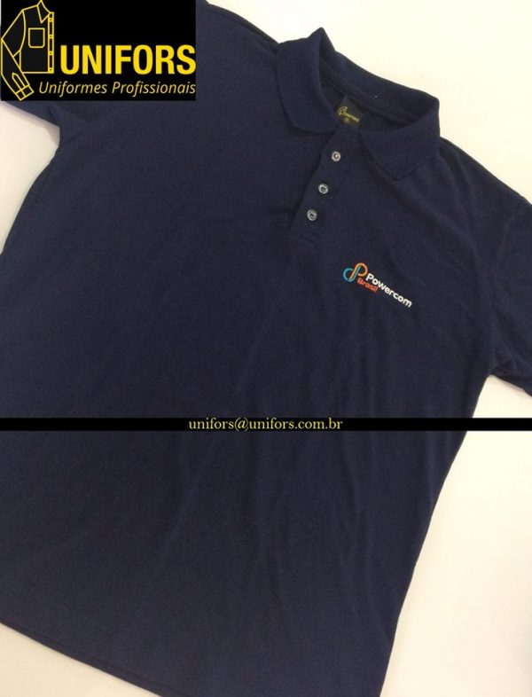 b79f4f25a Camisa Polo Personalizada com Bordado - Unifors  Uniformes ...